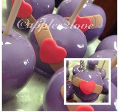 Doc Mcstuffins inspired candy apples. #apples2love #candyapples #customtreats