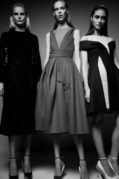 Anmari Botha (IMG), Lexi Boling (Ford) and Marine Deleeuw (Elite)  backstage at Dior AW14