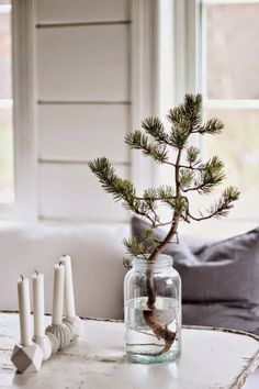 Simple Christmas Jar Decoration Home Ideas