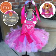 3piece set  Skye inspired tutu dress fully LINED by CharmCreated