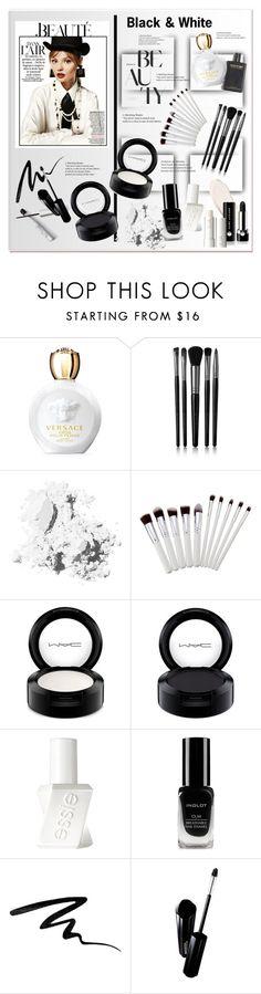 """Black & White Beauty"" by sella103 ❤ liked on Polyvore featuring beauty, Versace, Illamasqua, Bobbi Brown Cosmetics, MAC Cosmetics, Essie, Inglot, Eyeko, Shiseido and Marc Jacobs"