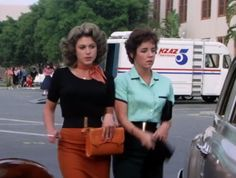 In this scene, Rizzo and Marty have matching black belts with a gold clasp.