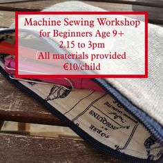 Join us on the February for our Machine Sewing Workshop for Beginners. The perfect space for your child to learn more about sewing and gain confidence in their own skill set. This class will take place in Maynooth How To Gain Confidence, Confidence Building, Community Space, Sewing Class, Craft Corner, Sewing For Beginners, Easy Projects, February, Workshop
