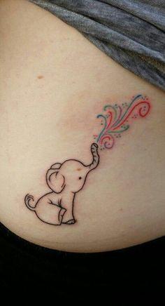 http://tattooideas247.com/minimal-elephant/ Minimal Elephant #BlowingColors…