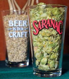 Craft #beer ingredients in a glass!