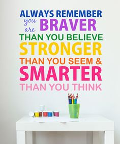 Look at this 'Always Remember' Wall Decal on #zulily today!