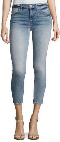 da7ab435dcc11 7 For All Mankind The Cropped Skinny Jeans