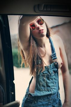 Sex girls in dungarees