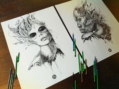 25 Attractive Sketchbook Art by Pierre Yves Riveau   The Design Inspiration