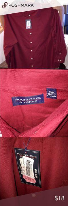 Red Long sleeve button-down dress shirt Red Roundtree & Yorke button-down. Roundtree & Yorke Shirts Dress Shirts