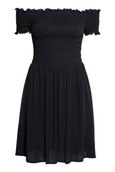 Sukienka z marszczeniem - Czarny - ONA | H&M PL