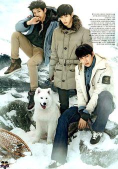 Hyuk, Hongbin, Leo  ♡ #VIXX // The Celebrity Magazine January 2014 Issue