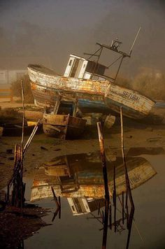 # Abandoned. - Looks like the results of a terrific Storm... Perfect...