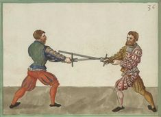 Two Lannge Orter (Longpoint) out of the Long Cut Historical European Martial Arts, Landsknecht, Long Cut, 16th Century, Warfare, Weapons, Texts, Medieval, Paintings