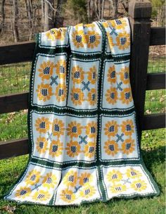 Picture of Sunflower Bliss Afghan Pattern
