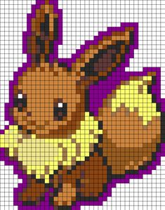 Perler Beads Patterns All Pokemon | Eevee Normal Pokemon Perler Bead Pattern…