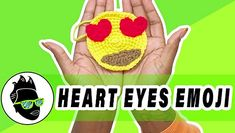 Crochet Heart Eyes Emoji 😍- free pattern and video at Martian Creations Baby Blanket Crochet, Crochet Baby, Hand Crochet, Crochet Hooks, Emoji Patterns, Eyes Emoji, Crochet Needles, Easter Bunny Decorations, Mermaid Blanket