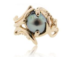 Maleficent black pearl ring by Wexford jewelers