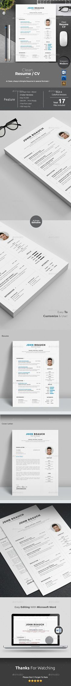 Resume Cv template, Resume cv and Font logo - office 2010 resume template
