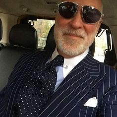 Suit shirt tie square and shades Mens Fashion Suits, Mens Suits, Designer Suits For Men, Pinstripe Suit, Men Formal, Suit And Tie, Well Dressed Men, Business Outfits, Gentleman Style