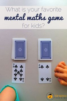 Playing math games in the classroom is a fantastic way to not only stimulate students, but is also an ideal way of improving students' number facts and number work. As games can be so beneficial I thought it would be fun to share your favorite fun mental Kindergarten Math Games, Math Games For Kids, Math Classroom, Math Activities, Mental Maths Games, Maths Games Ks1, Learning Games, Math Worksheets, Teaching Math