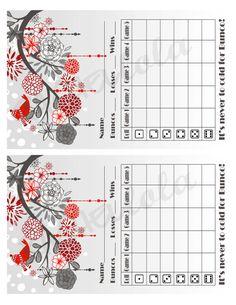 Bunco Score Sheets Template Free  Redneck Bunco Score Sheet For