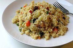 Receta de Cous cous de verduras de dificultad Fácil para 4 personas lista en 40 minutos.