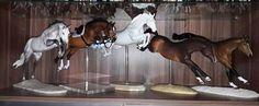 Drastic Custom Model Horse Resin Breyer Peter Stone Jumper Jumping Display