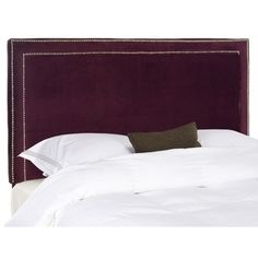 @Overstock - Choose the Cory headboard for tailored luxury upholstered with cotton fabric over thick padding for comfort and style.http://www.overstock.com/Home-Garden/Safavieh-Cory-Eggplant-Purple-Headboard-Queen/7402066/product.html?CID=214117 $259.99