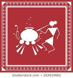 nisha_images's Portfolio on Shutterstock Dot Art Painting, Tribal Print Art, Mandala Art Lesson, Mini Canvas Art, Coaster Art, Painting Art Projects, Tribal Art Drawings, Folk Art Painting, Tribal Art Designs