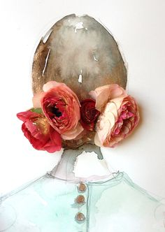 painting with real ranunculus // Paper Fashion