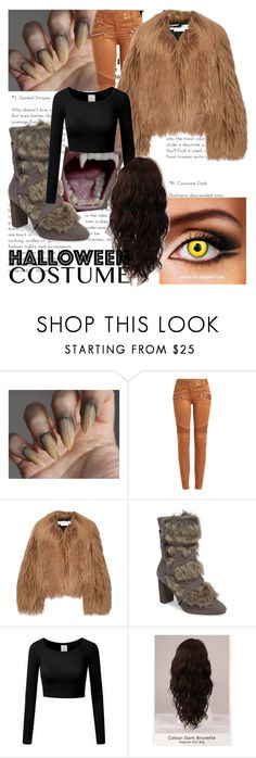 """""""Halloween Costume: Werewolf"""" by isobelfarquharson ❤ liked on Polyvore featuring Balmain, Marni, Charles by Charles David and WigYouUp"""