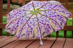 "Custom Designed Umbrella featuring my Purple Wisteria Photography Print41"" spanMANUAL Lightweight UmbrellaFlower PrintNature Photography (35.00 USD) by TimeisPreciousPhotos"