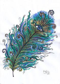 Blue-eyed feather - deviantART