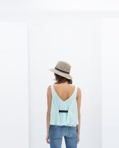 ZARA - NEW THIS WEEK - TOP WITH RIBBON ON BACK