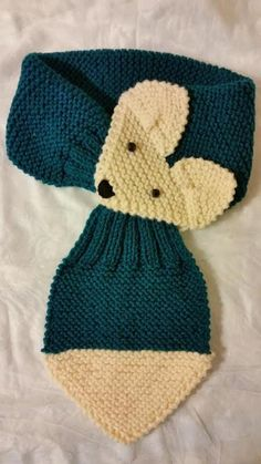 Fox Hand Knit scarf  neck warmer is adjustable for kids and adults. Made  with e3404e7276