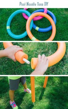 ideas DIY outdoor games pool noodles, Informations About Ideen DIY Outdoor-Spiele Pool Nudeln Pin You can easily use … Noodles Games, Pool Noodle Games, Pool Games, Pool Noodles, Water Games, Pool Noodle Crafts, Giant Outdoor Games, Outdoor Games For Kids, Outdoor Fun