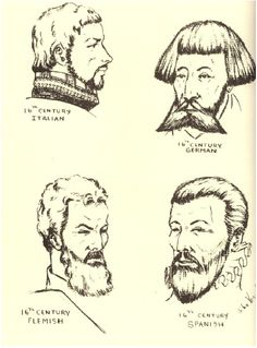 These are just some examples of men's hairstyles. We may have some wigs for some of you.