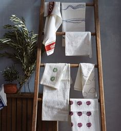 Fruit & Veggie Tea Towel / Fig (Provide Grants) | Cause Boutique