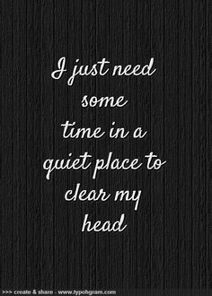 Sometimes I need to stop to recharge ...