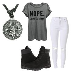 """Untitled #95"" by destinyaldridge on Polyvore featuring Timberland"