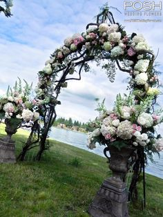 Rustic wedding arch ... Wedding ideas for brides, grooms, parents & planners ... https://itunes.apple.com/us/app/the-gold-wedding-planner/id498112599?ls=1=8  ... The Gold Wedding Planner iPhone App.