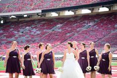 Camp Randall wedding photography :: madison, wi :: ilananatasha.com :: bridal party