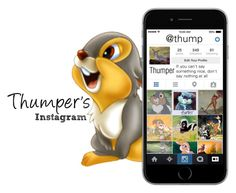 """""""Thumper's Instagram"""" by basic-disney ❤ liked on Polyvore featuring art"""