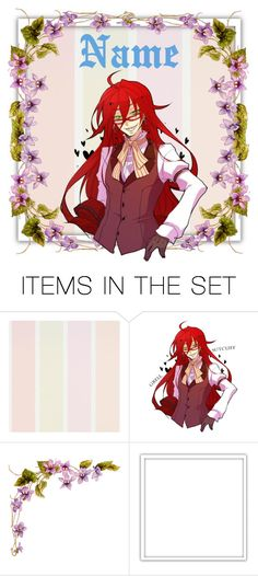 """""""Open Grell Sutcliffe Icon"""" by marshmallowgoddess ❤ liked on Polyvore featuring art"""