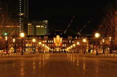 Tokyo Station at night. by Keith_TT, via 500px