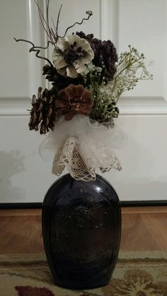 Pinecone Wedding Decorations, Pine Cones, Vase, Home Decor, Homemade Home Decor, Flower Vases, Jars, Decoration Home, Vases