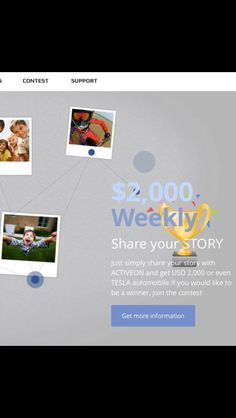 Don't forget to share your videos from your Activeon camera for a chance to win $2000. Please visit our web site for details. www.activeon.com