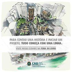 Muito orgulho em ter feito essa série de desenhos para o CAU-RS!!! Visite a Feira do Livro de Porto Alegre! Em breve, posto mais desenhos! #caurs #feiradolivro #portoalegre #cultura #praçadaalfandega #poa #aquarela #watercolor #centrohistorico #arquitetura #desenho #drawing #dibujo #sketch #inktober #architecture #oldschool #croquis #ilustracion #ilustração #sketch_daily #artwork