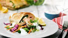 Lososovo – špenátový závin s feta sýrem